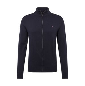 TOMMY HILFIGER Kardigan 'ORGANIC COTTON SILK ZIP THROUGH'  tmavě modrá