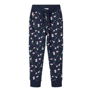 NAME IT Kalhoty 'NKFBEATE SWE PANT UNB CAMP'  růžová / marine modrá / zelená