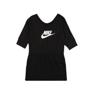 Nike Sportswear Šaty  bílá / černá
