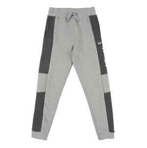 Nike Sportswear Kalhoty  světle šedá / tmavě šedá
