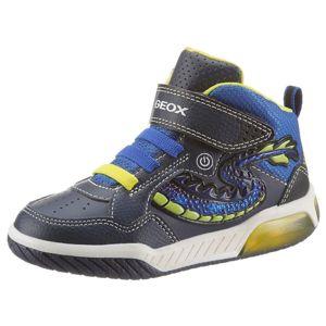 GEOX Tenisky  modrá / indigo / žlutá