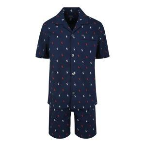 POLO RALPH LAUREN Pyžamo krátké  bílá / námořnická modř / červená