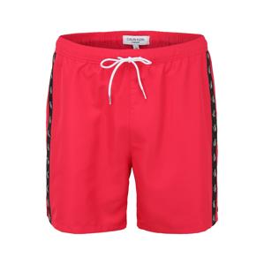 Calvin Klein Swimwear Plavecké šortky  tmavě růžová / černá / bílá