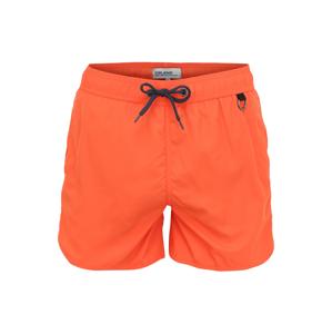BLEND Plavecké šortky  tmavě oranžová