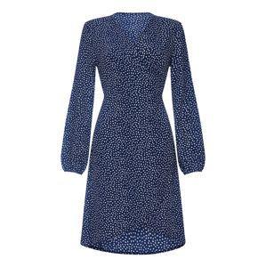 Mela London Šaty 'SPOTTY'  námořnická modř / bílá