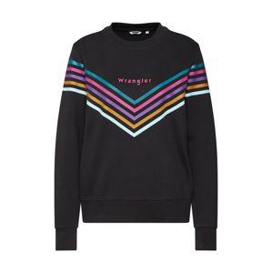 WRANGLER Mikina 'Rainbow'  mix barev / černá