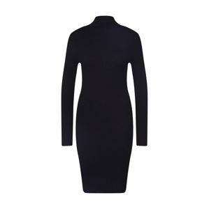VILA Úpletové šaty 'VIANDENA KNIT FUNNEL'  černá
