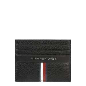 TOMMY HILFIGER Peněženka 'Corporate Leather CC Holder'  černá