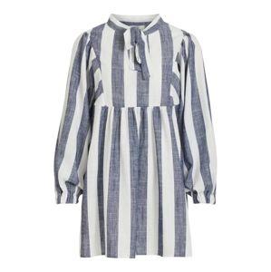 OBJECT Košilové šaty 'LOU'  bílá / modrá džínovina