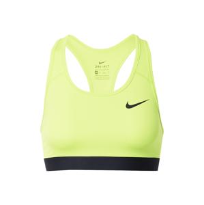 NIKE Sportovní podprsenka 'Swoosh'  svítivě zelená / černá
