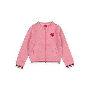 s.Oliver Junior Mikina s kapucí  růže / bílá / pink