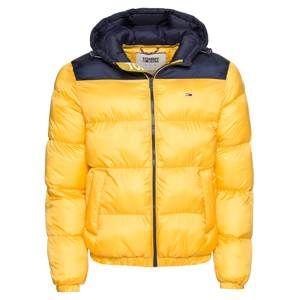Tommy Jeans Zimní bunda 'TJM TOMMY CLASSICS PUFFA JACKET'  námořnická modř / žlutá