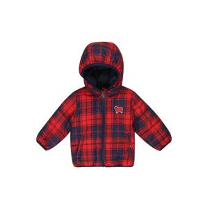 UNITED COLORS OF BENETTON Přechodná bunda  modrá džínovina / červená