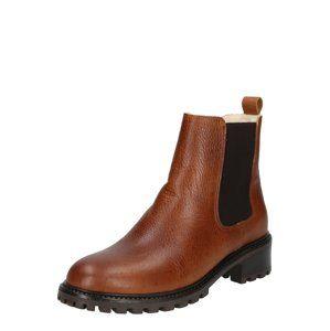 PS Poelman Chelsea boty  koňaková / tmavě hnědá