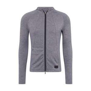PUMA Sportovní bunda 'Warm Up Jacket'  černý melír