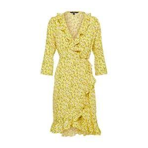 VERO MODA Šaty 'MOLLY'  zlatě žlutá / světle zelená / perlově bílá