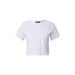 Trendyol Tričko  bílá / pastelová fialová