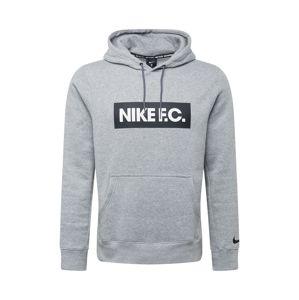 NIKE Sportovní mikina 'F.C.'  bílá / šedá / černá