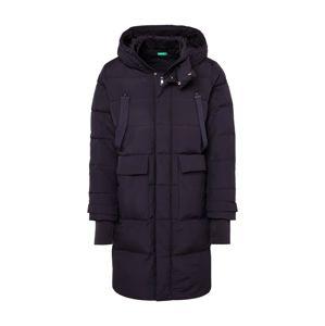 UNITED COLORS OF BENETTON Zimní kabát 'GIACCONE'  černá