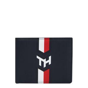 TOMMY HILFIGER Peněženka 'NAUTICAL MONOGRAM'  bílá / tmavě modrá / červená