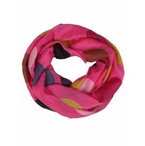 Zwillingsherz Kruhová šála 'Loop Punkte'  pink