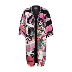 CULTURE Kimono 'Nawal'  korálová / černá / bílá