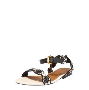 See by Chloé Páskové sandály  černá / bílá