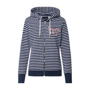 Superdry Mikina s kapucí 'APPLIQUE'  námořnická modř / bílá