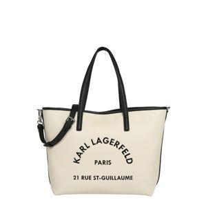 Karl Lagerfeld Nákupní taška  černá / krémová