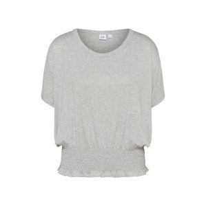 GAP Oversized tričko 'SMOCK WAIST'  světle šedá