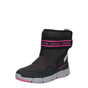 GEOX Sněhule  pink / černá