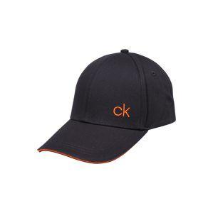 Calvin Klein Kšiltovka 'CONTRATS EDGE'  námořnická modř / oranžová