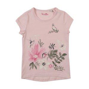 Sanetta Kidswear Tričko  čedičová šedá / jedle / růže / tmavě růžová