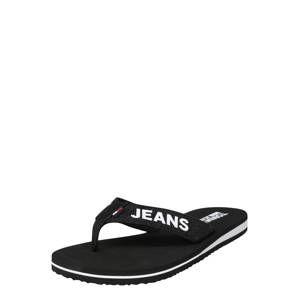 Tommy Jeans Žabky 'Sea'  černá / bílá