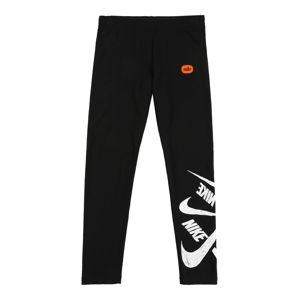 Nike Sportswear Legíny  bílá / černá