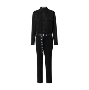 Calvin Klein Jeans Overal  černá / bílá