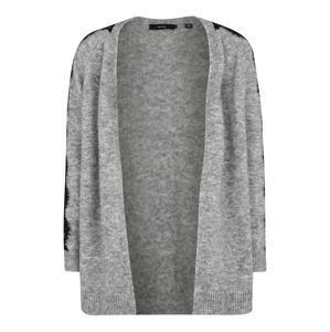 Vero Moda Curve Kardigan 'MERLA'  šedý melír / černá