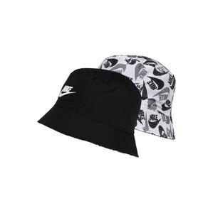 NIKE Sportovní čepice  bílá / černá / šedá