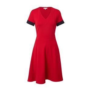 TOMMY HILFIGER Šaty 'FIT&FLARE'  červená / tmavě modrá