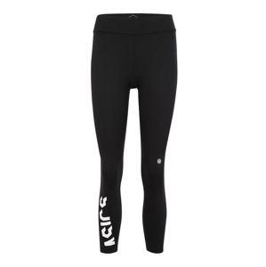 ASICS Sportovní kalhoty 'ESNT 7/8 TIGHT'  černá / bílá