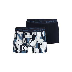 JACK & JONES Boxerky  noční modrá / světlemodrá