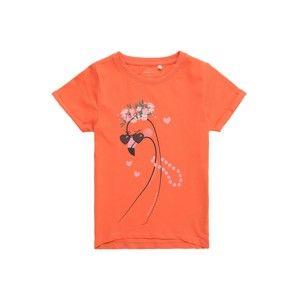 NAME IT Tričko  oranžová / růžová