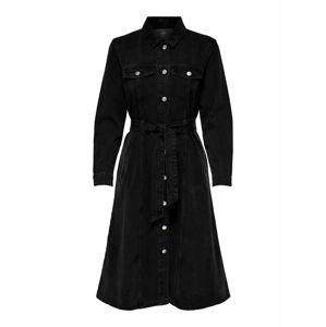 JACQUELINE de YONG Šaty  černá džínovina