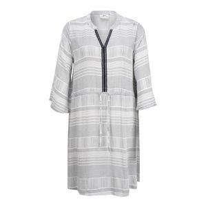 JACQUELINE de YONG Šaty  bílá / světle šedá