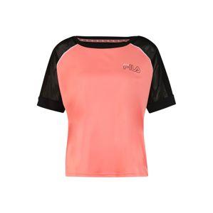 FILA Tričko 'WMN ADDO'  černá / pink