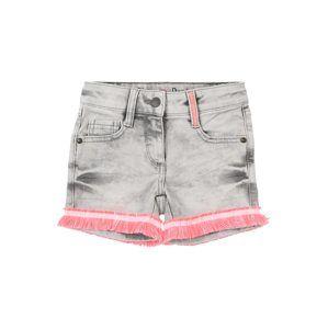 S.Oliver Junior Džíny  šedá džínová / pink / pastelově růžová