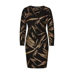 Mela London Šaty  zlatá / černá