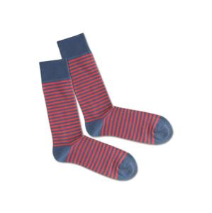 DillySocks Ponožky 'SS20-04 Red Sky Liner'  červená / modrá