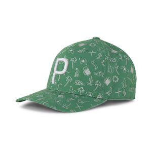 PUMA Sportovní kšiltovka 'Desert P 110'  zelená / bílá