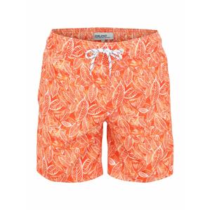 BLEND Plavecké šortky  tmavě oranžová / oranžová / bílá